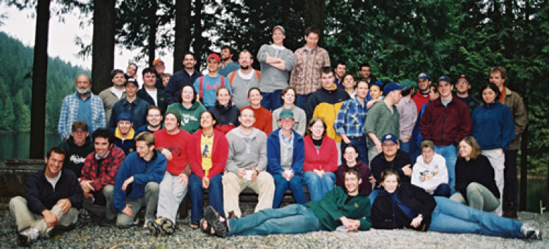 Group of Forestry students at Spring Field School